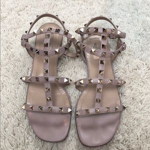 Valentino rockstud gladiator caged sandals